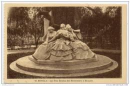 Sevilla - Las  Tres Gracias Del Monumento A Becquer - Sevilla