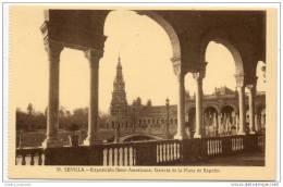 Sevilla - Exposicion Ibero Americana - Galeria De La Plaza De Espana - Sevilla
