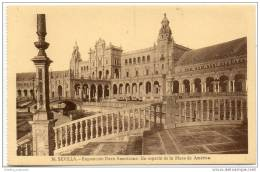 Sevilla - Exposicion Ibero Americana - Un Aspecto De La Plaza De America - Sevilla