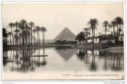 Cairo -  Le Caire - (1910) Landscape - Pyramids Of Giza - Cairo