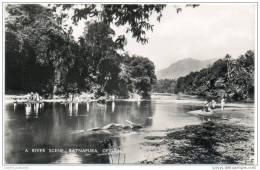 Ceylon (Sri Lanka) - A River Scene, Ratnapura - Sri Lanka (Ceylon)