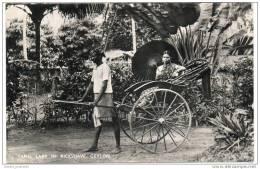 Ceylon (Sri Lanka) - Tamil Lady In Rickshaw - Sri Lanka (Ceylon)