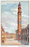 Vicenza - Piazza Dei Signori Con La Torre Dell' Orologio - Vicenza