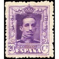 ES316ATV-LFT***316STCFR.España.Spain. Espagne.REY ALFONSO Xlll.VAQUER .1922.(Ed 316**)  Sin  Charnela - Familias Reales