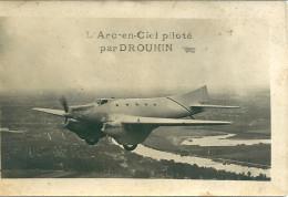 PARIS ORLY DROUHIN ARC EN CIEN AVION AVIATION CARTE PHOTO - 1919-1938: Between Wars