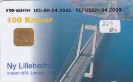 Denmark, DD 229Ob, Bridges, Lillebaeltsbroen, 20.000 Issued (for A + B), 2 Scans.  Oval Ø, UDLØB:04.2005 - Dänemark