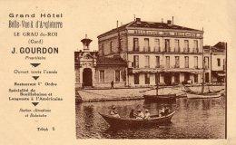 CPA    30   LE GRAU-DU-ROI---GRAND HOTEL---BELLE-VUE & D'ANGLETERRE---J.GOURDON PROPRIETAIRE - Le Grau-du-Roi
