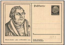 Germania/Germany/Allemagne: Intero, Stationery, Entier, Martin Lutero, Riformatore, Réformateur, Reformer - Teologi