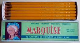 Boîte Neuve De 12 Crayons De Couleur MARQUISE Artechnic N°843 Ingénieur Architecte Topographe - Unclassified