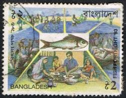 1993 - BANGLADESH - LAVORAZIONE PESCE / FISH PROCESSING. USATO, - Bangladesh