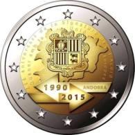 """Andorre 2015 : 2€ Commémorative """"25 Ans De L´Union Douanière"""" En Coincard - Disponible En France - Andorre"""