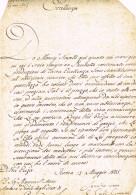CONSALVI Kardinaal  Cardinal Manuscript - Manuscripts