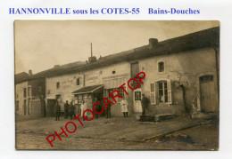 HANNONVILLE SOUS LES COTES-Bains-Douches-Sante-Hygiene-CARTE PHOTO Allemande-Guerre 14-18-1 WK-FRANCE-55- - France