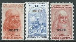 1952 TRIESTE A LEONARDO DA VINCI MNH ** - P23-4 - Nuevos