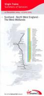 Virgin Trains Scotland North West England West Midlands Railway Timetable 2005 - Europe