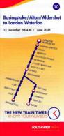 South West Trains Basingstoke Alton Aldershot Waterloo 2005 Railway Timetable - Europe