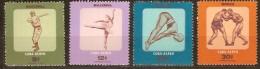 Cuba 1957 Yvertn° PA LP 159-62 *** MNH Cote 12,00 Euro Sport - Poste Aérienne