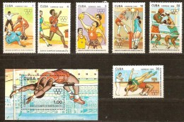 Cuba 1990 Yvertn° 3008-3013 Et Bloc 118 *** MNH Cote 8,00 Euro Sport - Cuba