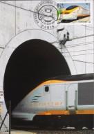 FR. - 2004 - EUROSTAR à L'Entrée Du Tunnel Sous La Manche - Paris Le 04/05.02.2004 - SUPERBE - Trains