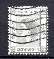 T461 - HONG KONG , Elisabetta 65 Cents Usato . - Usati