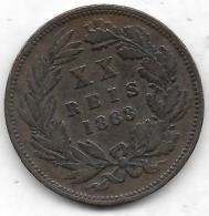 XX REIS Bronze 1883 - Portugal