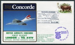 1984 Concorde British Airways First Flight Cover London - Tel Aviv, Israel - Concorde