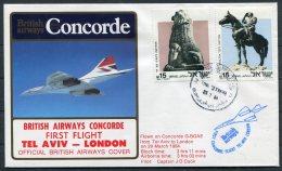 1984 Concorde British Airways First Flight Cover Tel Aviv, Israel - London - Concorde