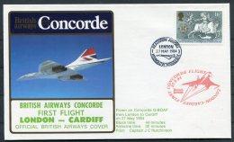 1984 Concorde British Airways First Flight Cover London - Cardiff - Concorde