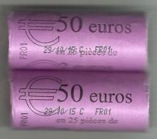 FRANCIA 2 CARTUCHOS X 25 =50 MONEDAS DE  2,00€ DEL AÑO 2015 SIN CIRCULAR (C.T.C.09.16) - Francia