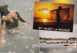50 - ST-VAAST-LA-HOUGUE - Multi-vues Seins Nus - Saint Vaast La Hougue