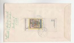 1969 REGISTERED CZECHOSLOVAKIA COVER Stamps 3k HERALDIC LION  50h  To Canada Fdc - Czechoslovakia