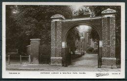 Entrance Library & Walpole Park, Ealing, London, Wakefields Published RP Postcard - London Suburbs