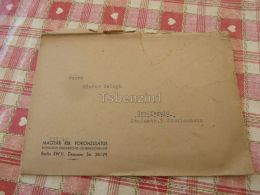 Berlin Magyar Kiralyi Fokonzulatus Koniglich Ungarisches Generalkonsulat Greifswald Germany Hungary Kuvert Envelope - Otros
