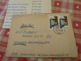 Berlin DDR Germany Budapest Hungary Kuvert Envelope - Germania