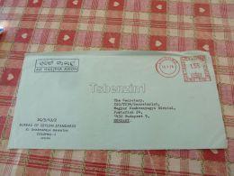 Colombo Bureau Of Ceylon Standards Sri Lanka Air Mail Luftpost Par Avion Budapest Hungary Kuvert Envelope - Sri Lanka (Ceylon) (1948-...)
