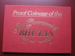 Bhutan 1979 5 Coin Set Proof By Royal Mint Cased - Bhutan