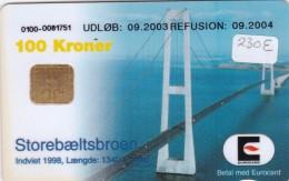 Denmark, DD 230Ea Bridges, Storebaeltsbroen, 47.247 Issued ( For A - E), 2 Scans.   Round Ø, UDLØB: 09.2003 - Dänemark