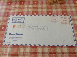 Kokkola Finland Registered Bank Of Helsinki Air Mail Luftpost Par Avion Budapest Hungary Kuvert Envelope - Finlandia