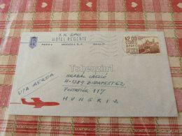 Hotel Regente Paris Mexico Air Mail Luftpost Par Avion Budapest Hungary Kuvert Envelope - Messico