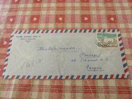 Santiago De Chile Air Mail Luftpost Par Avion Radio Budapest Hungary Kuvert Envelope - Chile