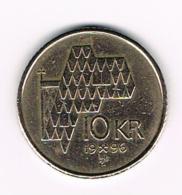 °°° NOORWEGEN  10 KRONER 1996 - Norvège