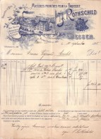 ALLEMAGNE - GIESSEN - JUDAÏCA , JUDAÏSME - MATIERES PREMIERES POUR LA BOSSERIE - ROTHSCHILD - 1908 - Allemagne