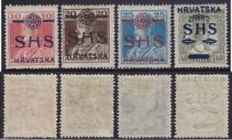 4698. Yugoslavia State SHS Croatia 1918 Hungarian Stamps With Overprint, MH (*) Michel 84-87 - Croatie