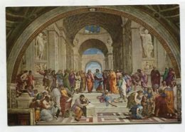 CHRISTIANITY  - AK280585 Roma - Citta Del Vaticano - Raffaello - Scuola Di Atene - Quadri, Vetrate E Statue