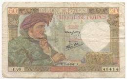 Billet. France. 50 Francs. 15-5-1941. - 1871-1952 Anciens Francs Circulés Au XXème