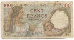 Billet. France. 100 Francs. 8-2-1940. - 100 F 1939-1942 ''Sully''