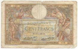 Billet. France. 100 Francs. 10-1-1932. - 100 F 1908-1939 ''Luc Olivier Merson''