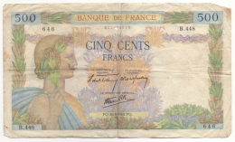 Billet. France. 500 Francs. 16-5-1940. - 1871-1952 Anciens Francs Circulés Au XXème