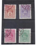 GUT1139 MONTENEGRO 1905 Michl 19/22 SATZ PORTO Used / GestempeltSIEHE ABBILDUNG - Montenegro