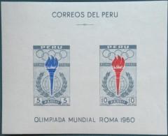Peru Perou 1961 Yvertn° Bloc 4 *** MNH Cote 8 Euro Sport - Pérou